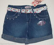 Size 12 GIRLS Shorts PINK ANGEL Denim Jean w belt BLING Studded