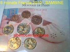 2010 8 monete 3,88 euro FRANCIA France Frankreich bambina fille kild child