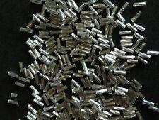 50g vetro Ritorto perline a tubicino Argento argento-rivestito
