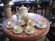 VECCHIO SERVIZIO DA CAFFE' CON PROFILO IN ORO