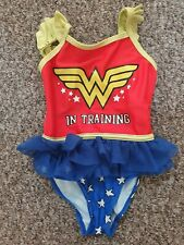 Girls Wonder Woman Swimsuit Age 3-4