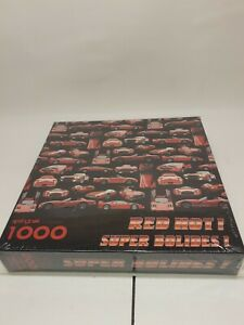 NIP Springbok 1000 piece Red Hot! Super Bolides! puzzle -  Red Sports Cars
