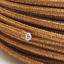 Cable Textil, Cable Fibra Textil Trenzado, Redondo, Cojos Cobre, 3x0, 75 H03VV