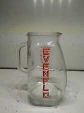 VINTAGE EVENFLO BABY FORMULA GLASS MIXER PITCHER Measuring Cup Red Lettering