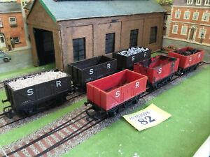 6x HORNBY 00 GAUGE R10A SR SOUTHERN RAILWAYS OPEN WAGONS. See Des (s82)