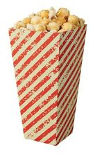 More details for deli supplies 25 x red & white popcorn carton box, food,party, cinema, movie