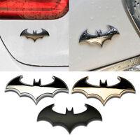 3D Chrome Metal Bat Auto Logo Car Sticker Batman Badge Emblem Tail Decal Fashion