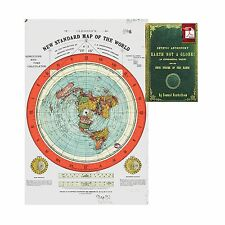 Flat Earth Map - Gleason's New Standard Map Of The World - Larg... Free Shipping