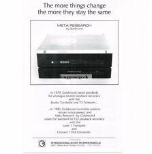 1991 Meta Research Goldmund Laser 1 CD Player Stereo Hi-Fi Vtg Print Ad