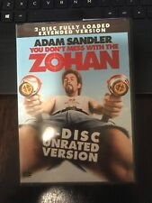 ADAM SANDLER: ZOHAN, 2-DISC UNRATED VERSION, NEW (A4)