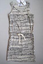 NEW LITTLE REMIX Girls 8 Yrs Black & Cream Cotton Jersey Line Dress RV $85