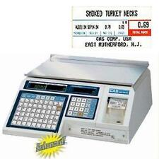 CAS LP-1000N Printing Scale NTEP  30 x 0.01 lb w/FREE Case LST-8000 Labels