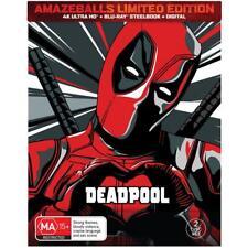 Deadpool Exclusive AMAZEBALLS Limited Steelbook 4K Ultra HD HDR Blu-ray Digital