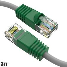 3FT CAT6 RJ45 Network LAN Ethernet UTP Crossover Cable Copper Wire Green Boot
