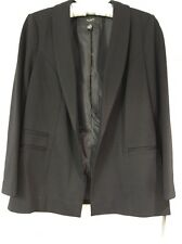 Alfani Womens Jacket Blazer Black Professional Career Work Size 8P Lined V-Neck
