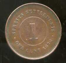 INDE ( STRAITS SETTLEMENTS ) british colony   1 one cent 1872  ( bis )