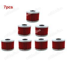 7x Oil Filter for Honda OEM # 15412-HM5-A10 TRX350 TRX420 TRX450 TRX500 FOURTRAX