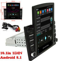 Android 8.1 1Din 10.1In Car Stereo Radio Sat Nav GPS WIFI MP5 Player&Rear Camera