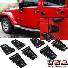 8pcs Black 4 Doors Hinge Exterior Cover Decor Trim For 2007 18 Jeep Wrangler Jk Fits Jeep Wrangler Unlimited