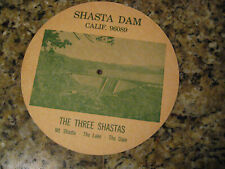 Dist-O-Map Shasta Dam California - Vintage 1964 Rotating Wheel USA Distance map
