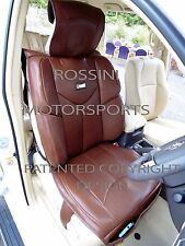 i - TO FIT AN AUDI A2 CAR, SEAT COVERS, YMDX BROWN, SB BUCKET SEATS