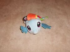 NEW, MY LITTLE PONY RAINBOW DASH PLUSH BACKPACK CLIP WITH ZIPPER POUCH