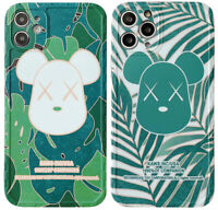 Bearbrick Bear XX Bape Green Phone Cover Case For iPhone 11 Pro Max XR XS SE 2nd
