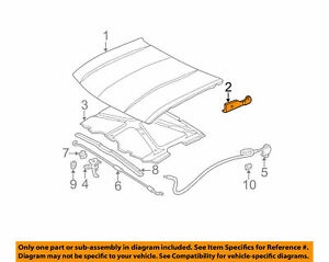 HINGE - HOOD RH GENUINE GM 15160699 Fits 2002-2009 Envoy, Trailblazer, Ranier