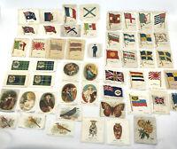 Cigarette Silks Card Lot 52 BDV Kensitas 1920s 30s Flags Religious Birds Tartan
