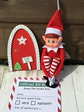 Naughty Christmas Elf with Door And Elf Notes- Limited Availability