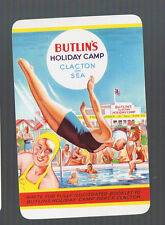 Playing Swap Cards 1 VINT ADVT FOR BUTLIN'S  CAMP GIRLS DIVING & SWIMMING  #253A