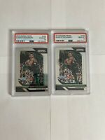 PSA 10 Giannis Antetokounmpo 2 Card Lot 2018 Panini Prizm Bucks