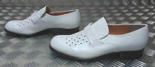 Genuine German Navy / Naval White Leather Sailor's Dress Shoe UK Size 9½ - NEW