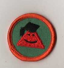 Junior Girl Scouts Math Whiz Professor~ 1980 WTE Badge Patch with Orange Border
