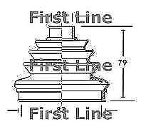 First Line FCB2006 Outer CV Boot Kit (Wheel Side)