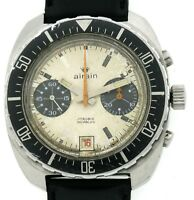 Airain Vintage Militär Chronograph (franz. Armee) Valjoux 7734 Handaufzug