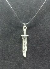 Supernatural demon killing protection knife blade dagger pendant necklace