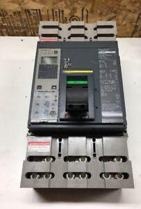 SQUARE D PGL36100U44A 3 POLE 600 VOLT 1000 AMP FEEDTHRU LSIG USED