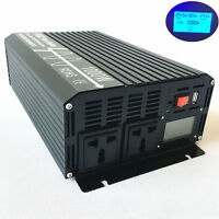 1000W Pure Sine Wave Power Inverter 12V/24V/48V to 120V/220V LCD Display USB