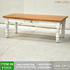 Country farmhouse shabby chic coffee table lounge Center White solid wood 1.2m