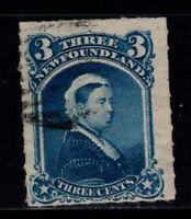 Neufundland 1868 Mi. 24 Gestempelt 100% 3 C, Königin Victoria