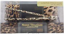 "Babyliss Pro Nano Titanium Leopard 1"" Flat Iron with Flat Iron Case BABNTL3072T"