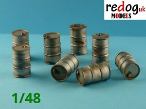 Redog 1:48 Oil and Fuel Barrels Kit - Scale Model Diorama accessories /br1