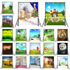 5x7ft Fairytale House Photography Backdrops Newborn Baby Kids Studio Props 3x5ft