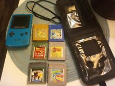 Nintendo Game Boy Color with 6 games and carry case