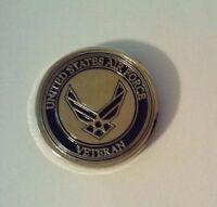 """United States Air Force Veteran Lapel Pin     1"""""""