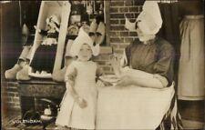Volendam Holland Native Woman & Child Little Girl Costumes RPPC Postcard
