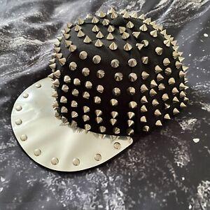 Hip Hop Trendy Studded Black Snapback Cap