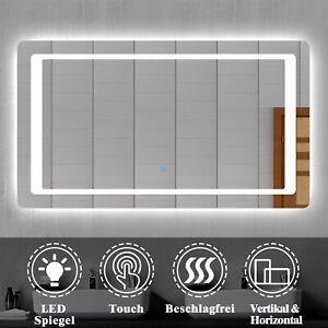 Wandspiegel mit LED Beleuchtung Badezimmerspiegel Badspiegel 50-140 Beschlagrei