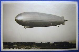 Airship Graf Zeppelin 1928 Real Photo Postcard